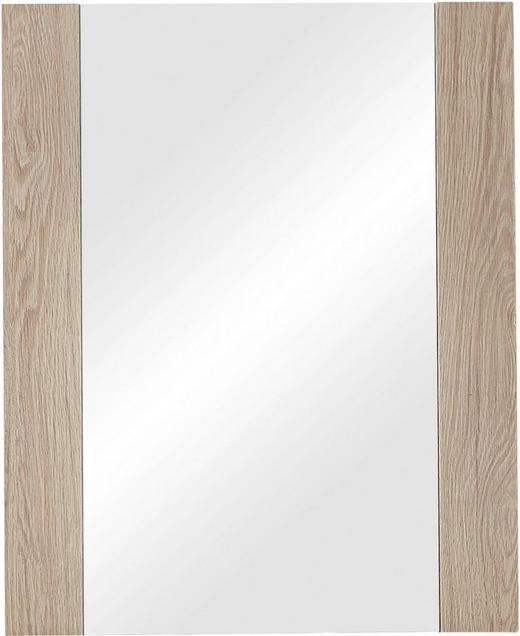 SPIEGEL - Eichefarben, Design, Glas/Holzwerkstoff (65/80/2cm) - XORA