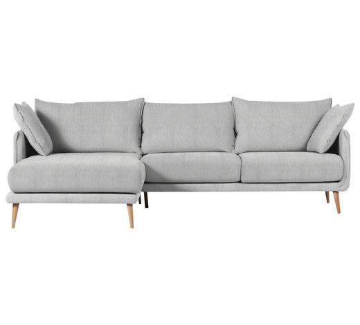 WOHNLANDSCHAFT in Textil Hellgrau  - Hellgrau/Naturfarben, Design, Holz/Textil (160/270cm) - Carryhome