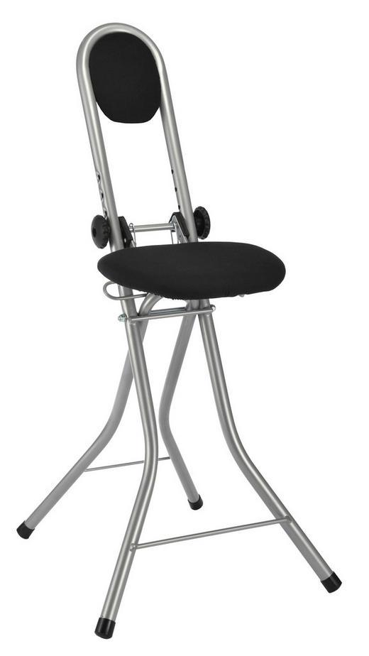 Stehhilfe Grau, Schwarz - Schwarz/Grau, Basics, Textil/Metall (45/91,5/47cm)