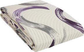 SÄNGÖVERKAST - beige/lila, Design, textil (220/240cm) - Novel