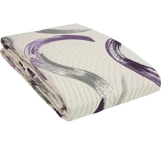 TAGESDECKE 220/240 cm  - Beige/Lila, Design, Textil (220/240cm) - Novel