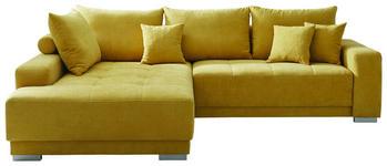 WOHNLANDSCHAFT in Textil Gelb  - Gelb/Silberfarben, Design, Holz/Textil (197/287cm) - Cantus
