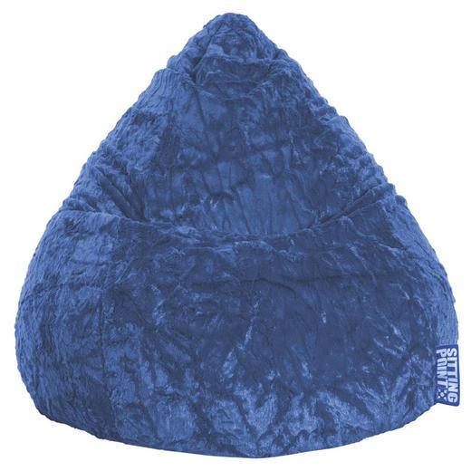 SITZSACK Plüsch Blau - Blau, Design, Textil (110/70cm) - Carryhome