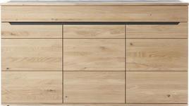 SIDEBOARD Wildeiche massiv geölt Eichefarben - Eichefarben, Design, Holz/Stein (180/102,4/47cm) - Linea Natura