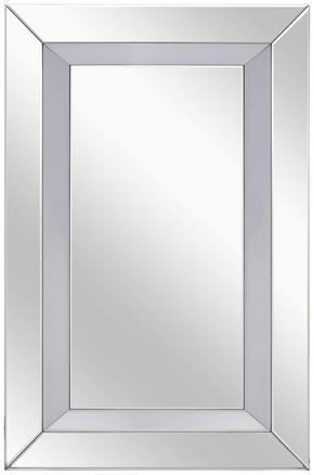 SPEGEL - silver, Design, glas/träbaserade material (80/120/4,8cm) - Xora
