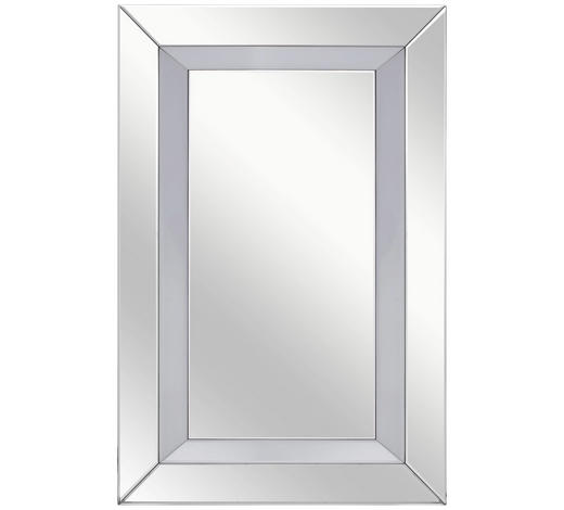 ZRCADLO, 80/120/4,8 cm,  - barvy stříbra, Design, kompozitní dřevo/sklo (80/120/4,8cm) - Xora