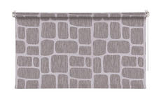 ROLLO  halbtransparent  100/160 cm    - Silberfarben/Grau, Design, Kunststoff (100/160cm) - Homeware