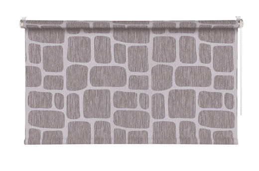 ROLLO  halbtransparent  75/160 cm - Silberfarben/Grau, Design, Kunststoff (75/160cm) - Homeware