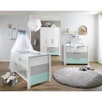 BABYKLEIDERSCHRANK Amy  - Weiß/Grau, Trend, Holzwerkstoff (136/200/53cm) - My Baby Lou
