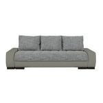 SCHLAFSOFA in Textil Braun, Grau  - Wengefarben/Braun, Design, Holz/Textil (243/90/100cm) - Carryhome