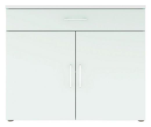 KOMMODE Weiß - Chromfarben/Schwarz, Design, Holzwerkstoff/Kunststoff (100/84/40cm) - Carryhome