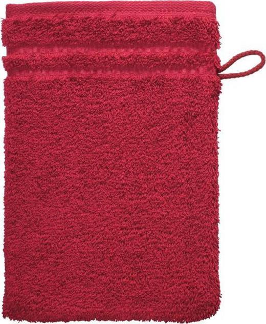 WASCHHANDSCHUH - Dunkelrot, Basics, Textil (22/16cm) - Vossen