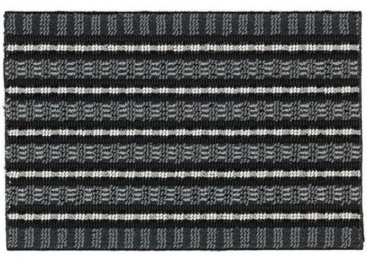 FUßMATTE 40/60 cm - Silberfarben/Schwarz, KONVENTIONELL, Textil (40/60cm) - Esposa