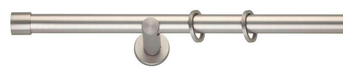 RUNDSTANGENGARNITUR  210 cm  - Edelstahlfarben, Design, Metall (210cm) - Homeware