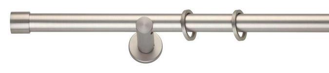 TELESKOPSTANGENGARNITUR 210 cm - Edelstahlfarben, Design, Metall (210cm) - Homeware