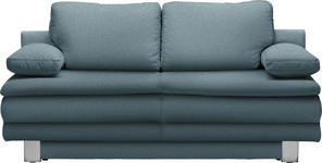 SCHLAFSOFA in Textil Blau - Chromfarben/Blau, Design, Textil/Metall (194/96/86cm) - Novel
