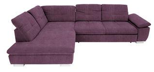 WOHNLANDSCHAFT in Textil Violett  - Chromfarben/Violett, Design, Textil (242/313cm) - Xora