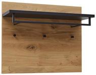 GARDEROBENPANEEL Balkeneiche furniert lackiert Anthrazit, Eichefarben  - Eichefarben/Anthrazit, Design, Holz/Metall (80/65/27cm) - Dieter Knoll