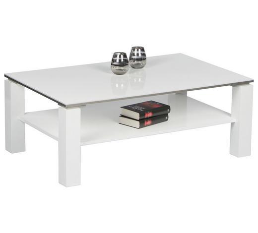 COUCHTISCH rechteckig Weiß  - Weiß, Design (110/70/41cm) - Carryhome