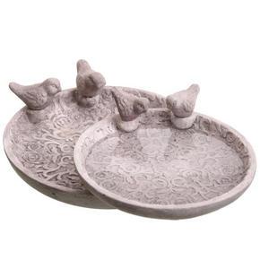 FÅGELBAD - grå, Lifestyle, sten (30/8,5cm)