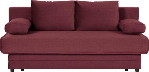 SCHLAFSOFA in Textil Weinrot - Weinrot, Design, Textil (200/90/100cm) - Novel