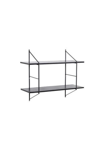 STENSKI REGAL 76/25,5/63 cm črna  - črna, Design, les (76/25,5/63cm) - Carryhome
