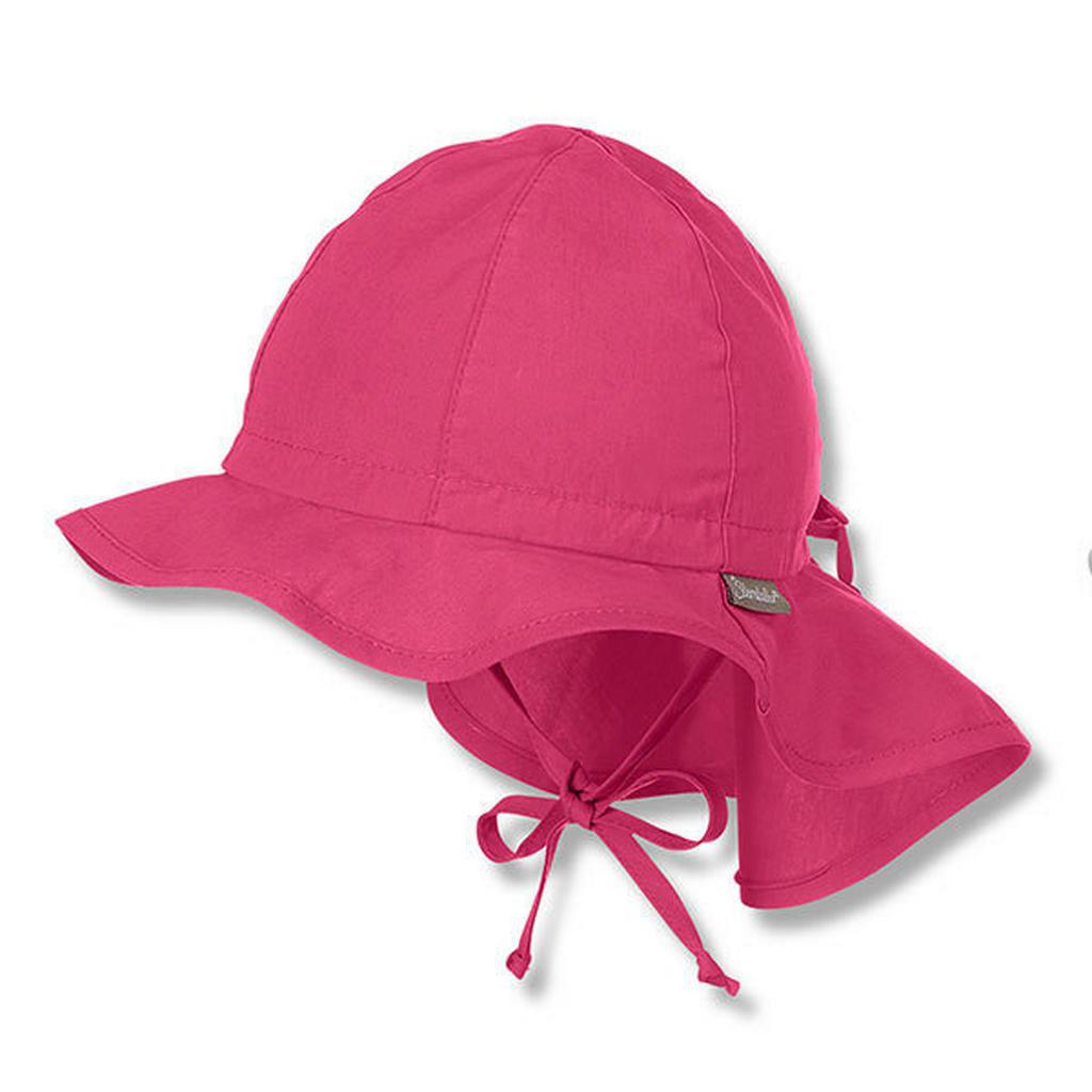 Sterntaler Hut mit Nackenschutz Pink 43
