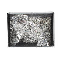 SADA DEKORAČNÍCH KOULÍ - průhledná/barvy nerez oceli, Konvenční, kov/umělá hmota (3/8/6cm) - Ambia Home