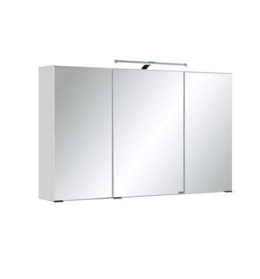 SPIEGELSCHRANK Weiß - Chromfarben/Weiß, MODERN, Glas/Holzwerkstoff (100/66/20cm) - CARRYHOME