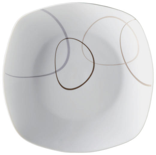 Porzellan  DESSERTTELLER  quadratisch - Braun/Weiß, Basics (20cm) - RITZENHOFF BREKER