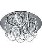 LED-DECKENLEUCHTE   - Chromfarben, Design, Glas/Kunststoff (56cm)