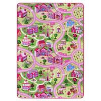 OTROŠKA PREPROGA SWEET VILLAGE - roza, Konvencionalno, tekstil (100/165cm)