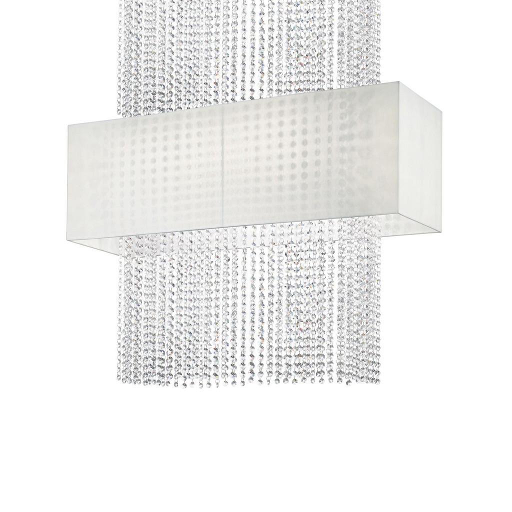 Hängeleuchte 'Phoenix Bianco' - ein funkelnder Glasvorhang