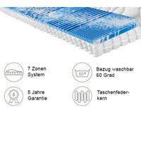 TASCHENFEDERKERNMATRATZE PERFECT TOUCH T 80/200 cm 22 cm - Weiß, KONVENTIONELL, Textil (80/200cm) - Sleeptex