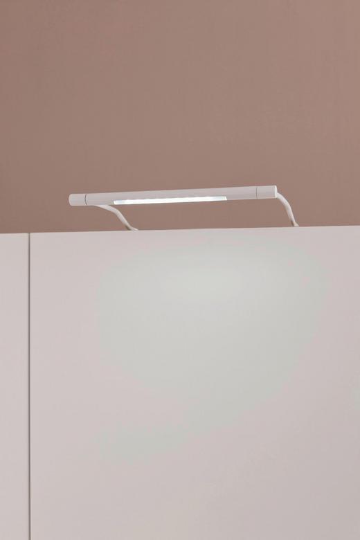 AUFBAULEUCHTE 2-teilig - Weiß, Design, Metall - Hom`in
