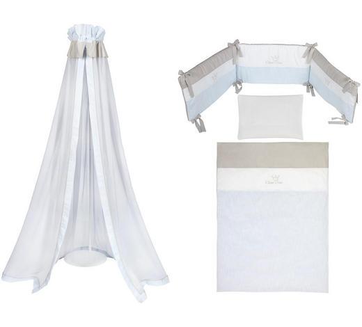 GITTERBETTSET 4-teilig Prinz - Blau/Weiß, Basics, Textil