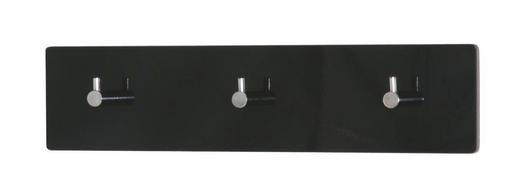 WANDGARDEROBE Chromfarben, Schwarz - Chromfarben/Schwarz, Basics, Metall (35/8/5cm) - Carryhome