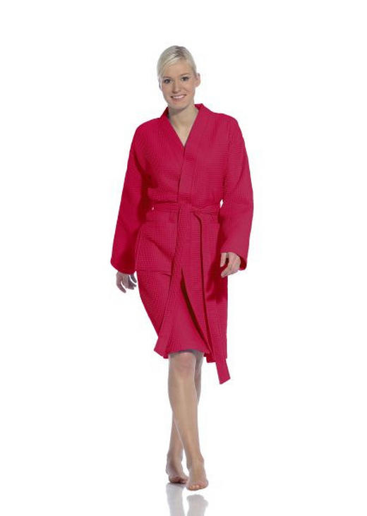 BADEMANTEL  Rosa - Rosa, Basics, Textil (S) - VOSSEN