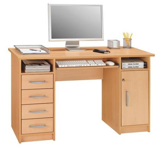PC STŮL - barvy buku/barvy hliníku, Konvenční, kompozitní dřevo/umělá hmota (126/75/55cm) - Cantus