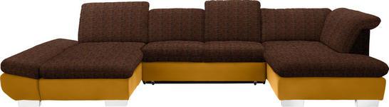 WOHNLANDSCHAFT in Gelb, Orange Textil - Chromfarben/Gelb, Design, Kunststoff/Textil (204/350/211cm) - Xora