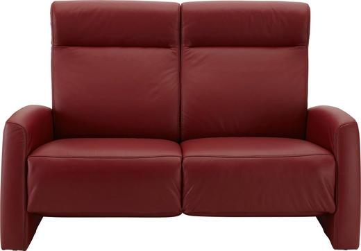 2,5-SITZER Echtleder Rot - Rot/Schwarz, KONVENTIONELL, Leder/Kunststoff (165/105/93cm) - Himolla