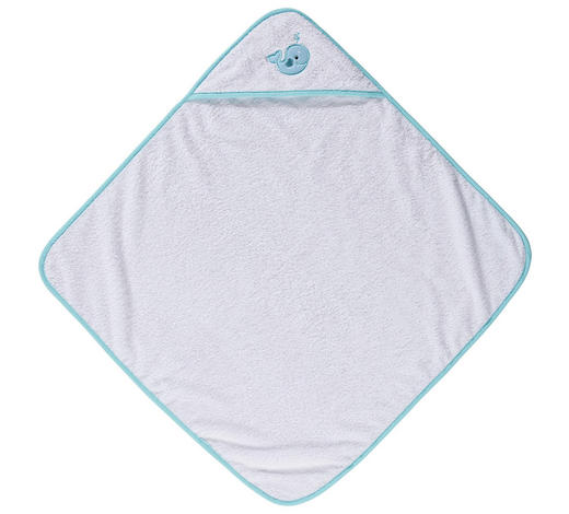 KAPUZENBADETUCH - Türkis/Weiß, Basics, Textil (100/100cm) - My Baby Lou