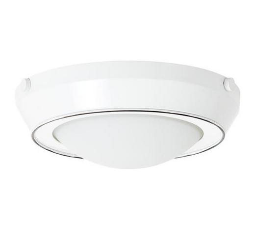 DECKENLEUCHTE - Weiß, LIFESTYLE, Glas/Metall (28,5/10,5cm)