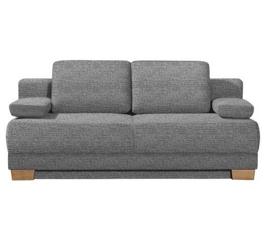 SCHLAFSOFA Grau - Eichefarben/Grau, KONVENTIONELL, Holz/Textil (200/95/101cm) - Venda