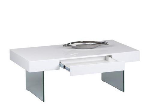 KLUB STOLIĆ - bijela, Design, staklo/drvni materijal (110/60/42cm)