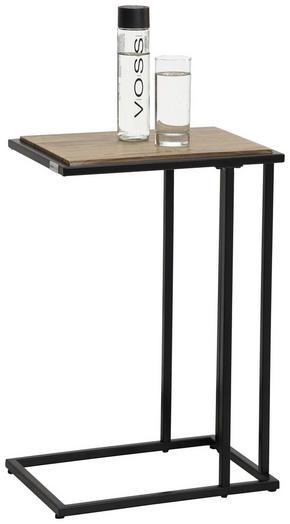 AVLASTNINGSBORD - svart/ekfärgad, Design, metall/träbaserade material (30/60/40cm) - Low Price