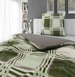 BETTWÄSCHE Biber Grün 135/200 cm  - Grün, Design, Textil (135/200cm) - Esposa