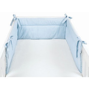 OBROBA ZA POSTELJICO, MODRA - svetlo modra, Basics, tekstil (32/210cm) - Sonne