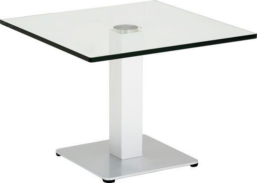 ODKLÁDACÍ STOLEK - barvy stříbra, Konvenční, kov/sklo (60/60/44,5cm)