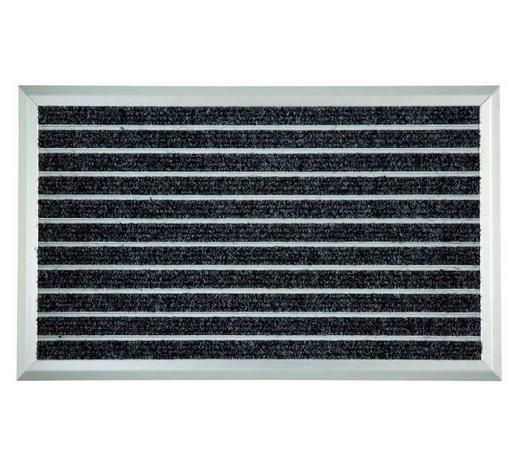 Türmatte 45/75 cm  - Anthrazit, KONVENTIONELL, Kunststoff/Textil (45/75cm) - Homeware